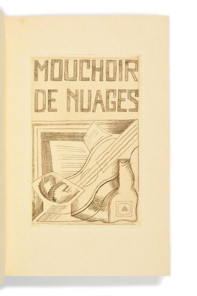 GRIS (Jua n). – TZARA (Tri sta n). Mouchoir de nuages. Paris, Éditions de la Galerie...