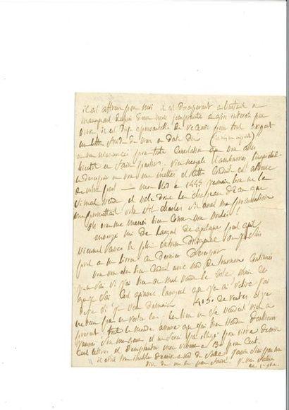 SADE (Donatie n-Alphonse-Fra nçois de). Lettre...