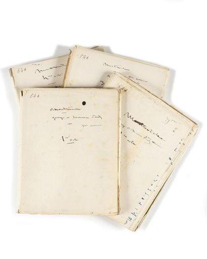SAND (George ). Manuscrit autographe signé...