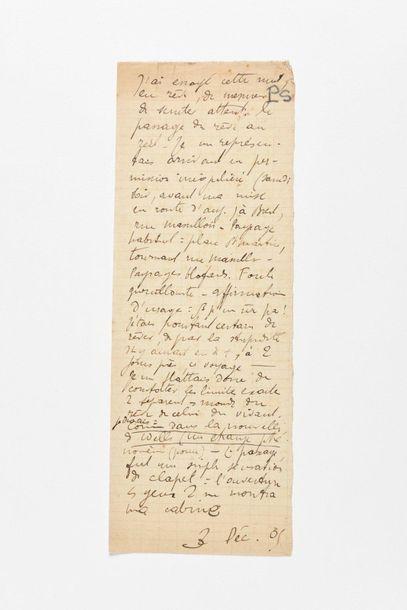 SEGALEN (Victor). Manuscrit autographe. 3...