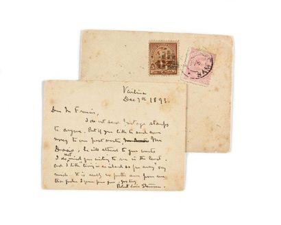 STEVENSON (Robert Louis). Lettre autographe...