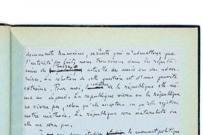 ZOLA (Émile). Manuscrit autographe signé...