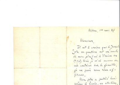 ZOLA (Émile) et Alfre d BRUNEAU. Double manuscrit...