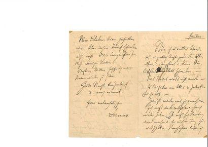BRAHMS (Johannes). Lettre autographe signée...