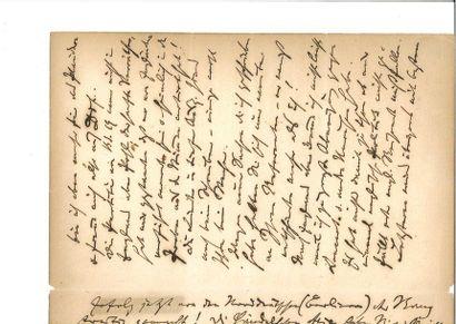 BRAHMS (Johannes). Lettre autographe signée,...