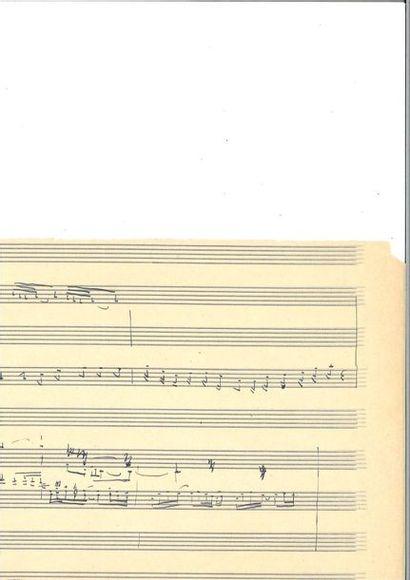 DEBUSSY (Clau de). Manuscrit musical autographe....