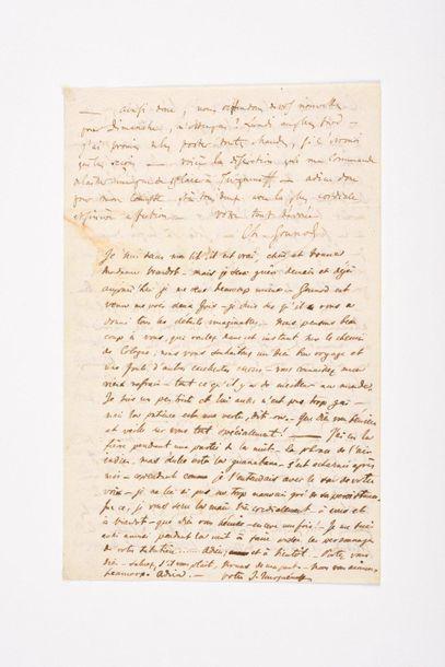 GOUNOD (Charles). Lettre autographe signée...