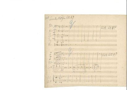 LISZT (Fra nz). Manuscrit musical autographe...