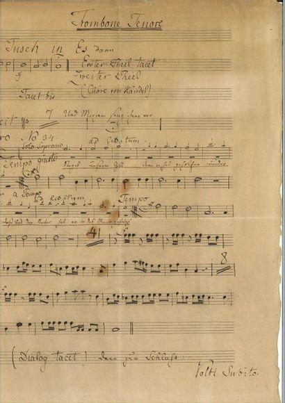 MENDELSSOHN -BARTHOLD Y (Felix). Manuscrit...