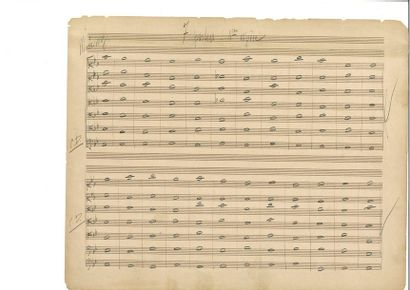 RAVEL (Mauri ce). Manuscrit musical autographe....
