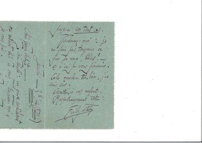 SATIE (Erik ). Lettre autographe signée à...