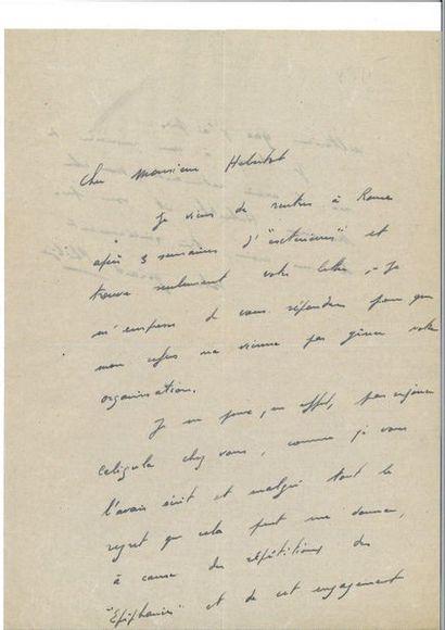 WAGNER (Richard). Lettre autographe signée,...