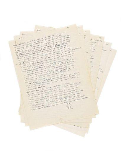 EINSTEIN (Albert ). Manuscrit autographe...