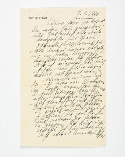 FREUD (Sigmund). Lettre autographe signée,...