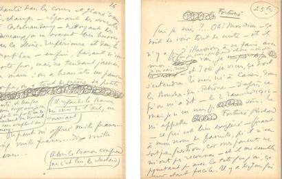 GUITRY (Sacha). Manuscrit : tirade de Fortuné...