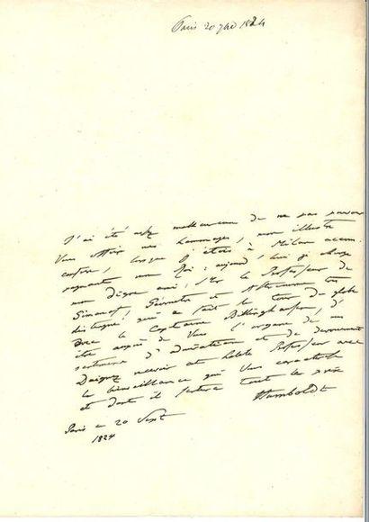 HUMBOLD T (Alexander von). 11 lettres.