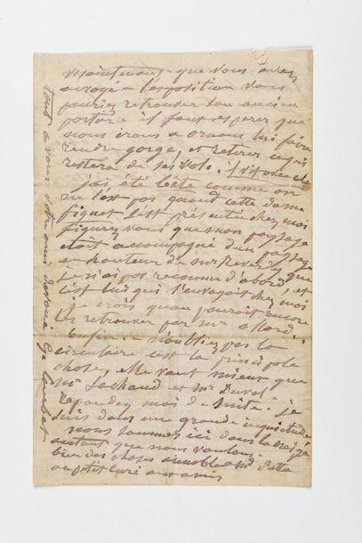 COURBET (Gusta ve). Lettre autographe signée...