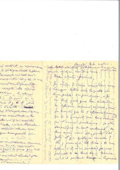 MATISSE (Henri ). Lettre autographe signée...