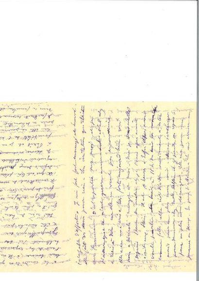 MATISSE (Henri ). Lettre autographe signée « Henri » à son épouse Amélie Parayre....