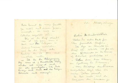 MUNCH (Edvard). Lettre autographe signée,...