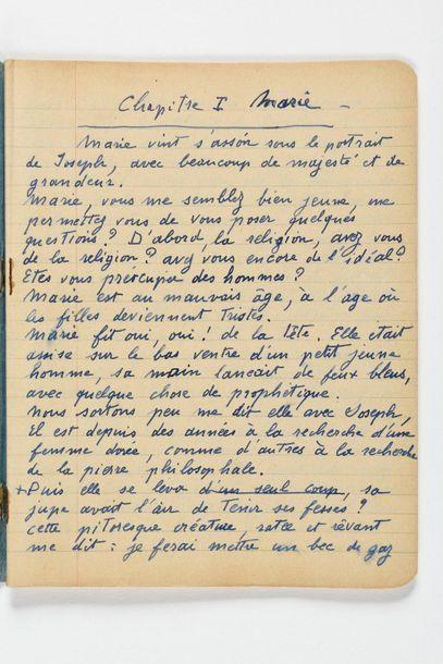 PICABIA (Fra ncis). Manuscrit autographe intitulé « Marie et Joseph ». S.d. 26 ff....