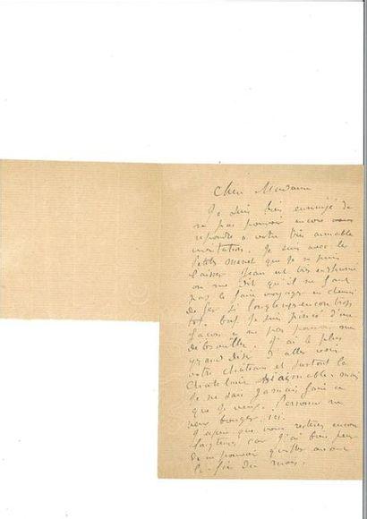RODIN (Auguste). 2 lettres autographes signées...