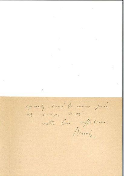 RODIN (Auguste). 2 lettres autographes signées au peintre Camille Pissarro. 1891....