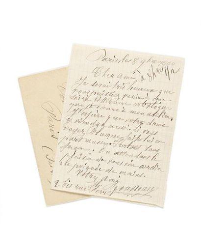 ROUSSEAU (Henri ). Lettre autographe signée...