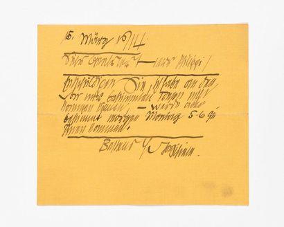 SCHIELE (Egon). Lettre autographe signée...