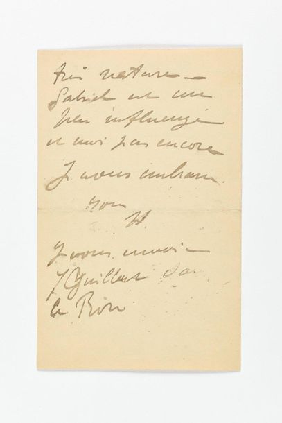 TOULOUSE-LAUTREC (Henri de). Lettre autographe...