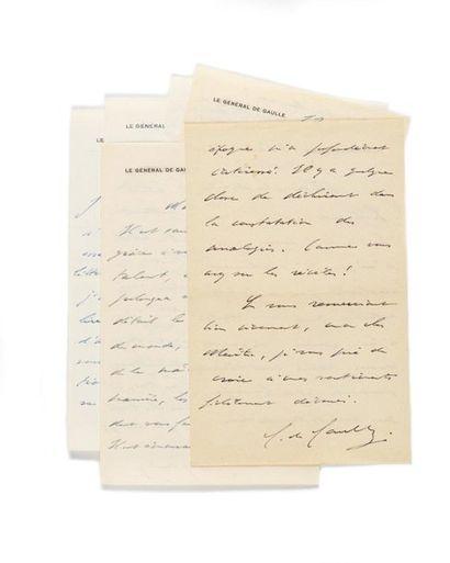 GAULLE (Charles de). 6 lettres autographes...