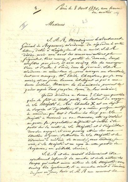 GUIZOT (Fra nçois). Correspondance de 4 lettres...