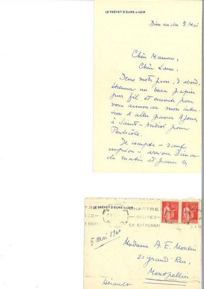 MOULIN (Jean). Lettre autographe signée à...