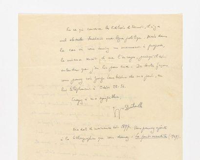 BATAILLE (George s). Lettre autographe signée...