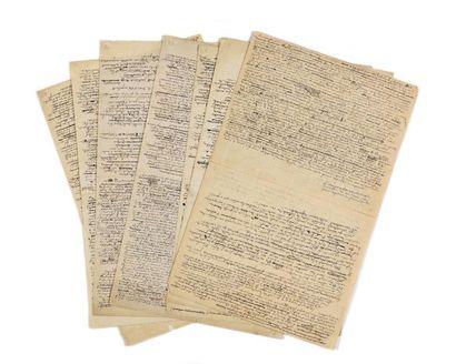 BLOY (Léon). Manuscrit autographe. 16 pp....