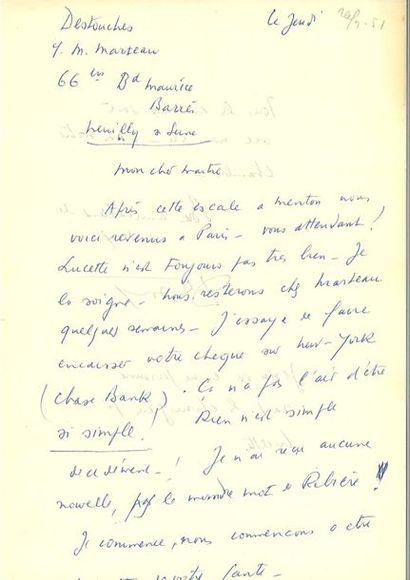 CÉLINE (Louis-Fer dinand). 9 lettres autographes...