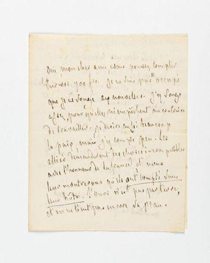 CHATEAUBRIAND (Fra nçois-René de). Lettre...
