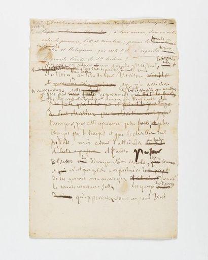 CHATEAUBRIAND (François-René de). Manuscrit...