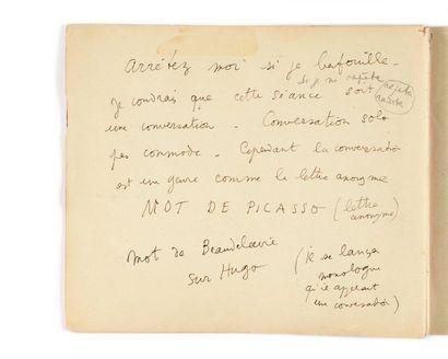 COCTEAU (Jean). Manuscrit autographe (35...