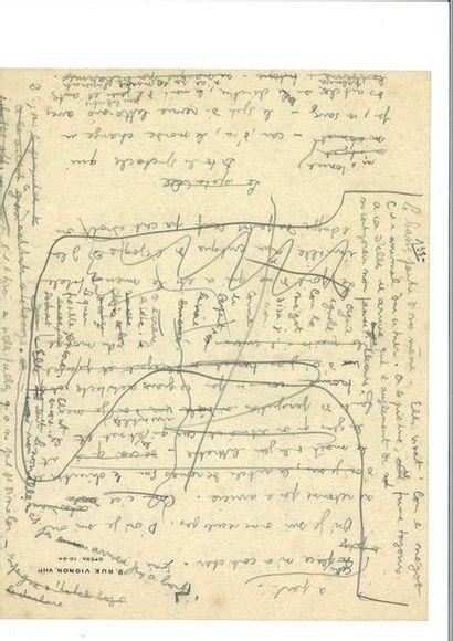 COCTEAU (Jean). Notes autographes signées....