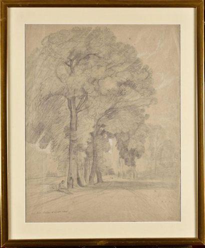 Louis CABAT (1812-1893) Barbizon Mine, rehauts...