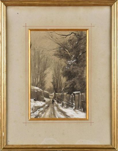 Auguste ALLONGÉ (1833-1898) Dans la forêt...