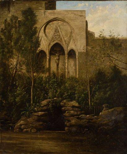 ECOLE du XIXème SIECLE Chapelle et ruisseau...