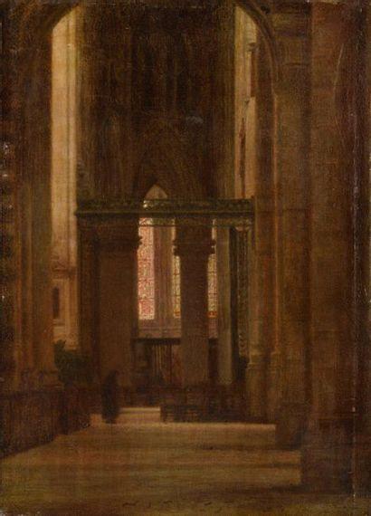 Jacques Louis BARCAT (1877 - 1955) Intérieur...