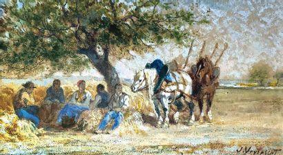 Jules Jacques VEYRASSAT (1828-1893) Le repos...