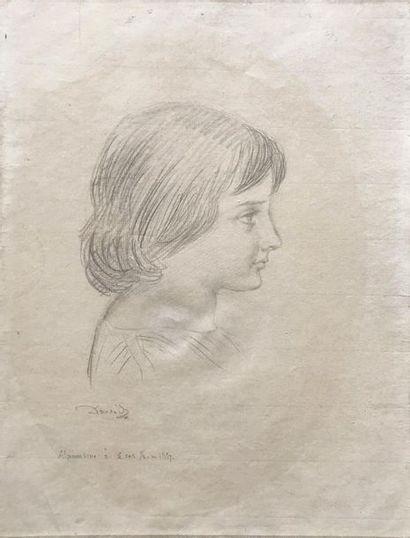 Pierre- Jean DAVID D'ANGERS (1788-1856) Portrait...