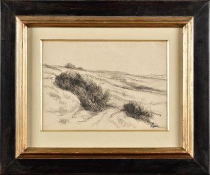Maximilien LUCE (1858-1941) Paysage Crayon...
