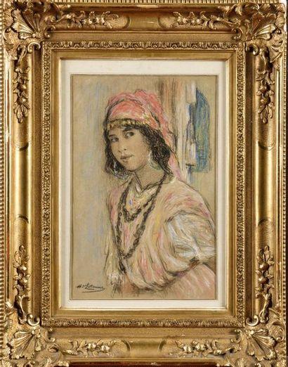 Henry D'ESTIENNE (1872-1949) Jeune algérienne...