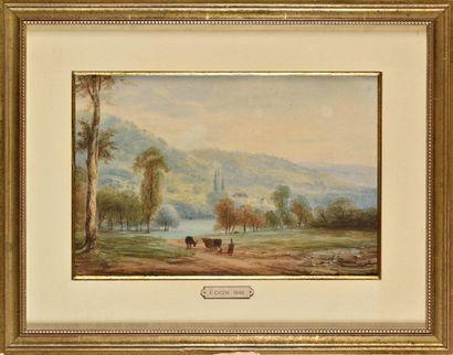 Eugène CICÉRI (1813-1890) Vacher et ses bêtes...