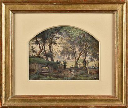 Achille Gratin GALLIER (1814-1871) Vue de...